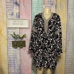 Maurices Floral Long Bell Sleeve Summer Midi Dress